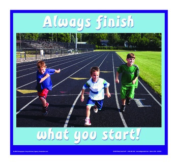 Motivational Message - Always Finish