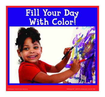 Motivational Message - Fill Your Day With Color