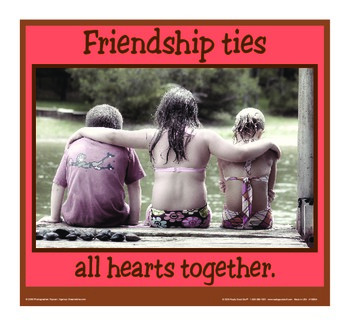 Motivational Message - Friendship Ties Hearts