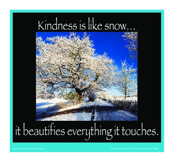 Motivational Message - Kindness Is Like Snow
