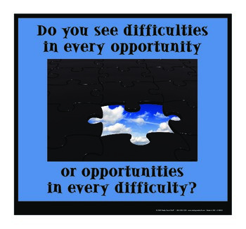 Motivational Message - Opportunities Or Difficulties