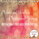 Motivational Mini Posters/Postcards For Teachers