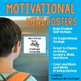 Back to School Motivational Mini Posters to Build Self-Esteem