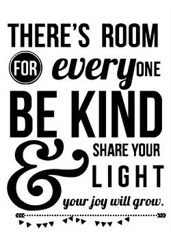 Motivational Modern Classroom Decor Poster