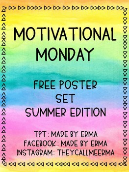 Motivational Monday Free Printable Posters
