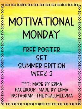 Motivational Monday Free Printable Posters Week 2