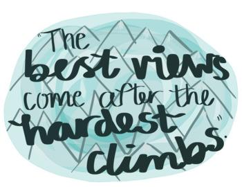 Motivational Mountain / Wilderness Poster Prints