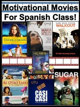 Motivational Movies for Spanish Classes / Las Peliculas Culturales
