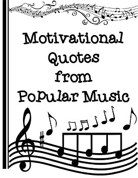 Motivational Music Quotes From Popular Song Lyrics Tpt