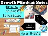 Motivational Notes- GROWTH MINDSET , SEL, TEST PREP - Floral