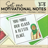 Motivational Notes | Positive Notes for Students | Growth Mindset Notes Editable