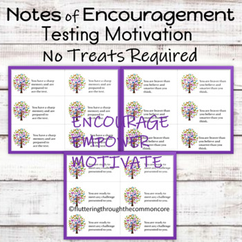 Testing Motivation Notes of Encouragement  (No Treats Required)