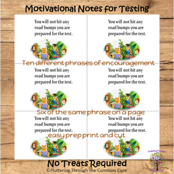 Motivational Notes for Testing No Treats Required