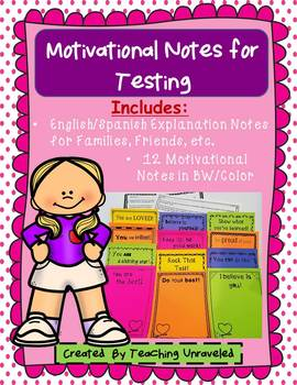 Motivational Notes for Testing - Student Choice