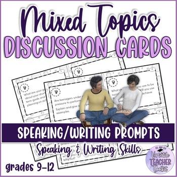 Motivational Oral Interaction/Speaking Task Cards ESL/ELA