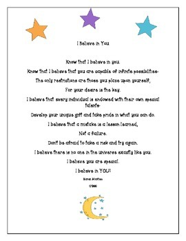 Motivational Poem and Activities to Start the Year Right!
