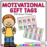 Motivational/Positive Gift Tags (Rainbow Theme)