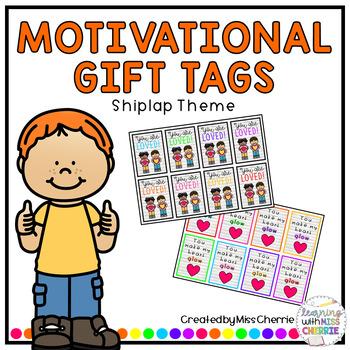 Motivational/Positive Gift Tags (Shiplap Theme)