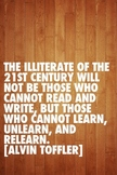 Motivational Poster: 21st Century Learning quote by Alvin Toffler
