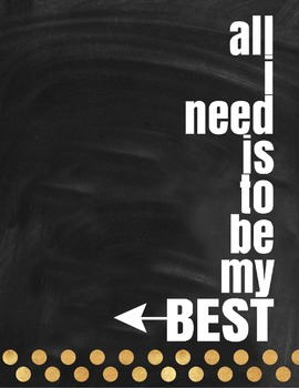 Motivational Poster: All I Need Is To Be My Best