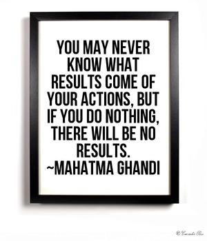Motivational Poster Classroom Effort Success!! Doing Nothing Ghandi 1 Quote