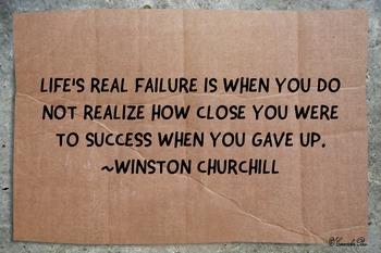 Motivational Poster Classroom Effort Success!! Failure- Winston Churhill