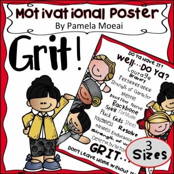 GRIT... Don't Leave Home Without It! A Motivational Poster!