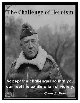 Motivational Poster General Patton Quote / Grade 8 Springboard ELA