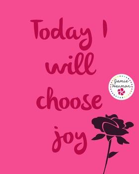 Motivational Poster: I Will Choose Joy