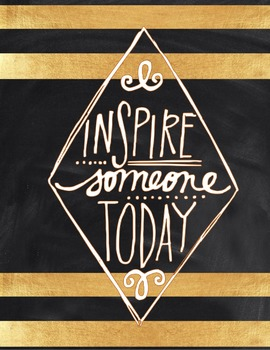 Motivational Poster: Inspire Someone Today