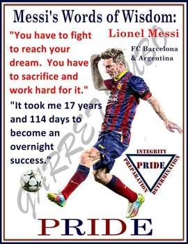 Motivational Poster: Lionel Messi's Words of Wisdom