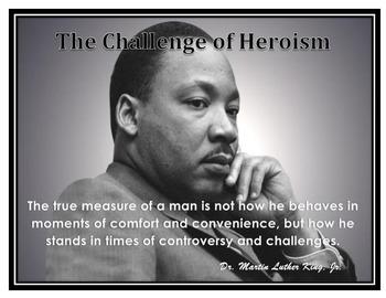 Motivational Poster Martin Luther King, Jr Quote / Grade 8 Springboard ELA