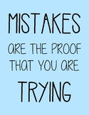 "Motivational Poster ""Mistakes are the proof that you are trying"""