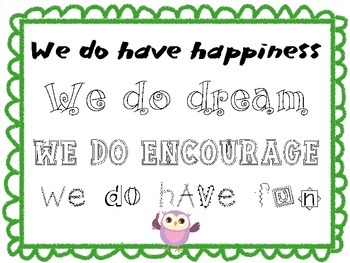 Motivational Poster - Owl Themed - In Our Clas...