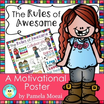 """Motivational Poster:  """"The Rules of Awesome"""""""
