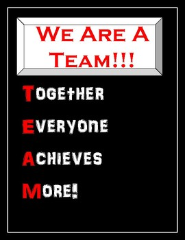 Motivational Poster: We Are A Team!