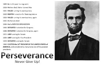Motivational Posters A Lincoln F Douglas Never Give