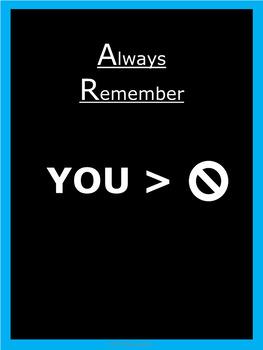 Motivational Posters - Aqua - Vertical