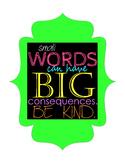 Motivational Poster: Be Kind