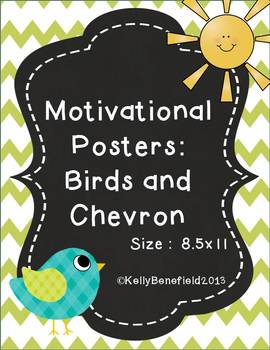 Motivational Posters:  Birds and Chevron Theme