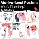 Motivational Posters - Boho Flamingo for Personal Inspirat