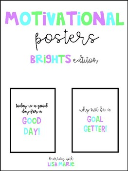 Motivational Posters {Brights Edition}