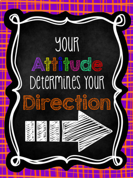 Motivational Posters: Chalkboard and bright colors