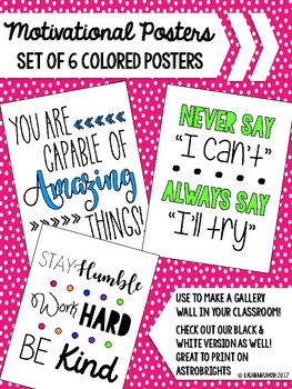 Motivational Posters - Colored (Growth Mindset)