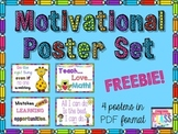 Classroom Motivational Poster Set of 4 Posters (FREE)