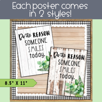Motivational Posters: Farmhouse Themed l Growth Mindset