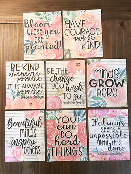 Motivational Posters (Floral and Shiplap)