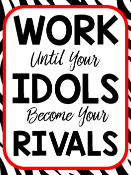 Motivational Posters Freebie! Set of 8 Posters-Classroom Decor