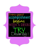 Motivational Poster: Great Accomplishments