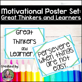 Motivational Posters: Great Thinkers and Learners